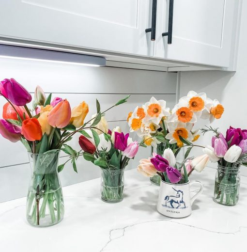 Bouquets of Daffodils and Tulips