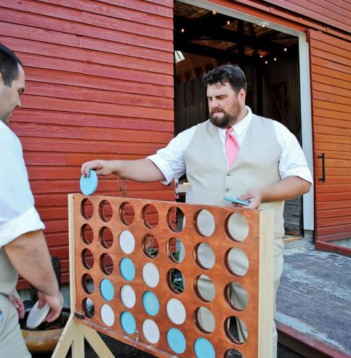 Giant Connect 4 at the Barn