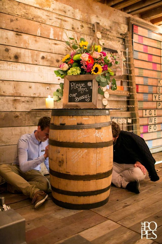 Whiskey Barrel Wedding Book