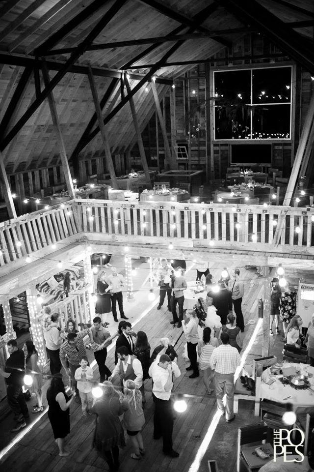 Barn Inside at Night