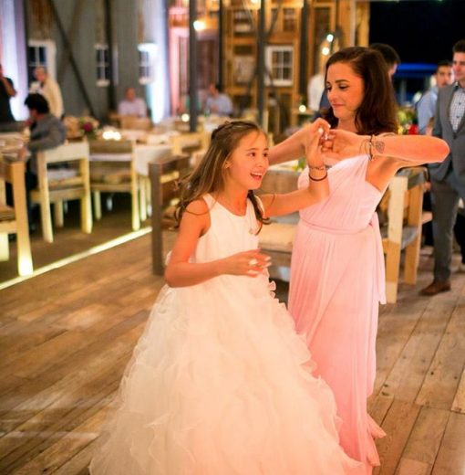 Flower Girls in Barn